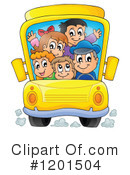 Royalty-Free (RF) School Bus Clipart Illustration #1201504