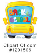 Royalty-Free (RF) School Bus Clipart Illustration #1201506