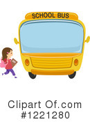 Royalty-Free (RF) School Bus Clipart Illustration #1221280