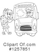 Royalty-Free (RF) School Bus Clipart Illustration #1257851