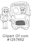 Royalty-Free (RF) School Bus Clipart Illustration #1257852