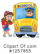 Royalty-Free (RF) School Bus Clipart Illustration #1257855
