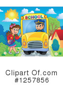Royalty-Free (RF) School Bus Clipart Illustration #1257856