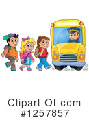 Royalty-Free (RF) School Bus Clipart Illustration #1257857