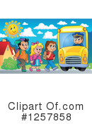 Royalty-Free (RF) School Bus Clipart Illustration #1257858