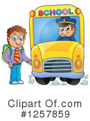 Royalty-Free (RF) School Bus Clipart Illustration #1257859
