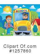 Royalty-Free (RF) School Bus Clipart Illustration #1257860