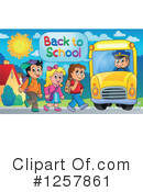 Royalty-Free (RF) School Bus Clipart Illustration #1257861