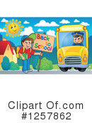 Royalty-Free (RF) School Bus Clipart Illustration #1257862