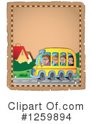 Royalty-Free (RF) School Bus Clipart Illustration #1259894