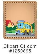 Royalty-Free (RF) School Bus Clipart Illustration #1259895