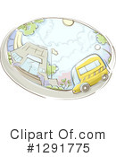 Royalty-Free (RF) School Bus Clipart Illustration #1291775