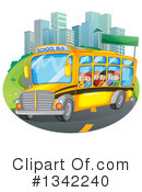 Royalty-Free (RF) School Bus Clipart Illustration #1342240