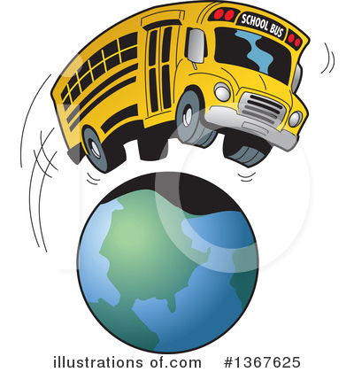 Globe Clipart #1367625 by Clip Art Mascots