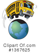School Bus Clipart #1367625 by Clip Art Mascots