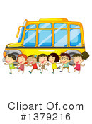 Royalty-Free (RF) School Bus Clipart Illustration #1379216