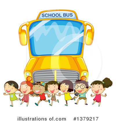 Royalty-Free (RF) School Bus Clipart Illustration by Graphics RF - Stock Sample #1379217