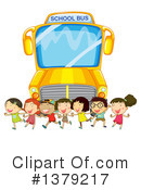 Royalty-Free (RF) School Bus Clipart Illustration #1379217