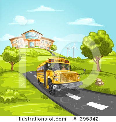 Royalty-Free (RF) School Bus Clipart Illustration by merlinul - Stock Sample #1395342