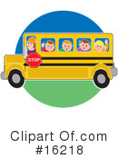 Royalty-Free (RF) School Bus Clipart Illustration #16218