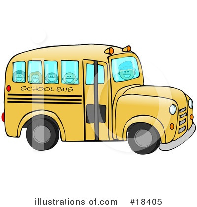 Royalty-Free (RF) School Bus Clipart Illustration by djart - Stock Sample #18405