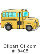 Royalty-Free (RF) School Bus Clipart Illustration #18405