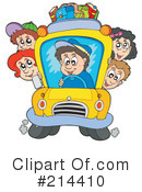 Royalty-Free (RF) School Bus Clipart Illustration #214410