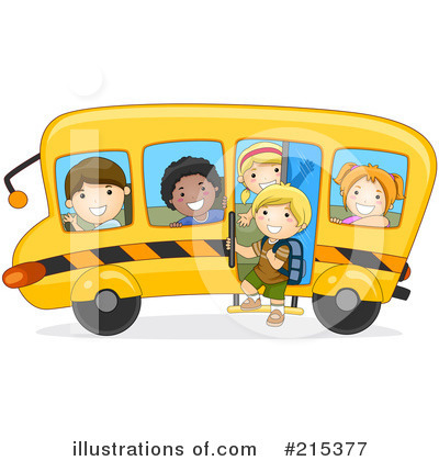 Royalty-Free (RF) School Bus Clipart Illustration by BNP Design Studio - Stock Sample #215377