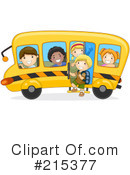 Royalty-Free (RF) School Bus Clipart Illustration #215377