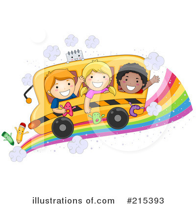 Royalty-Free (RF) School Bus Clipart Illustration by BNP Design Studio - Stock Sample #215393