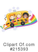 Royalty-Free (RF) School Bus Clipart Illustration #215393