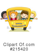 Royalty-Free (RF) School Bus Clipart Illustration #215420