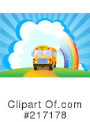 Royalty-Free (RF) School Bus Clipart Illustration #217178
