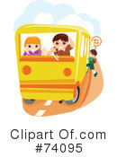Royalty-Free (RF) School Bus Clipart Illustration #74095