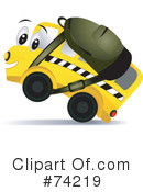 Royalty-Free (RF) School Bus Clipart Illustration #74219