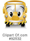Royalty-Free (RF) School Bus Clipart Illustration #92532