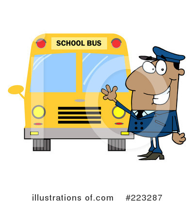 School Bus Clipart #223287 by Hit Toon