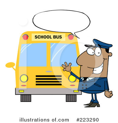 School Bus Clipart #223290 by Hit Toon