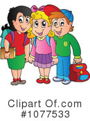 Royalty-Free (RF) School Children Clipart Illustration #1077533