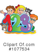 Royalty-Free (RF) School Children Clipart Illustration #1077534
