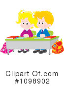 School Children Clipart #1098902 by Alex Bannykh