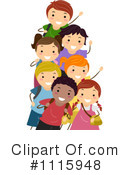 Royalty-Free (RF) school children Clipart Illustration #1115948