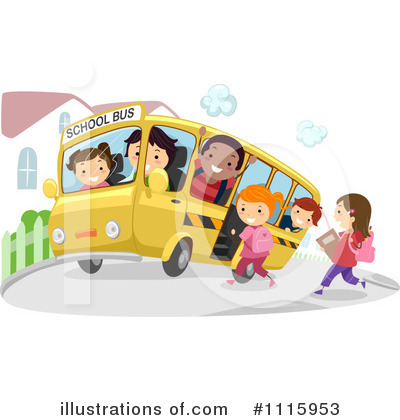 Bus Clipart #1115953 by BNP Design Studio