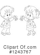 School Children Clipart #1243767 by Alex Bannykh