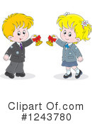 School Children Clipart #1243780 by Alex Bannykh