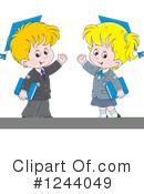 School Children Clipart #1244049 by Alex Bannykh