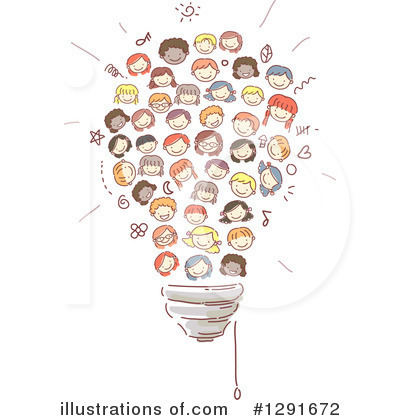 Royalty-Free (RF) School Children Clipart Illustration by BNP Design Studio - Stock Sample #1291672