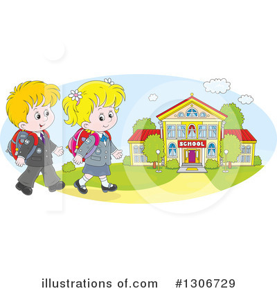 School Children Clipart #1306729 by Alex Bannykh