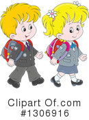 School Children Clipart #1306916 by Alex Bannykh
