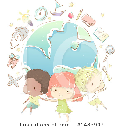 School Children Clipart #1435907 by BNP Design Studio